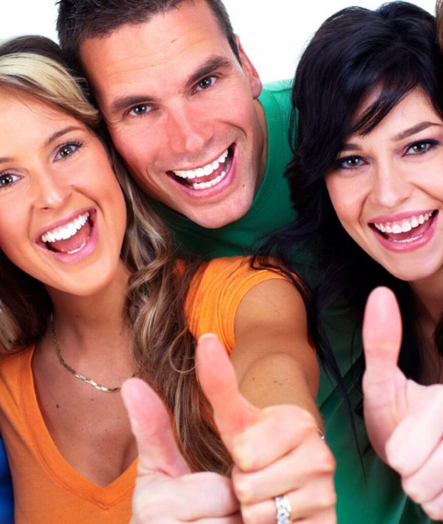 Group of people with thumbs up for Alpha Center Group Counseling